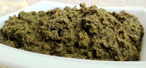 kpeum, feuilles de manioc