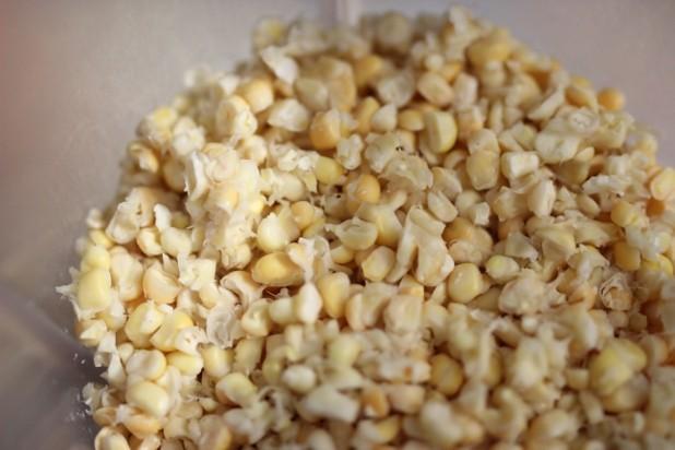 Beignets de maïs frais