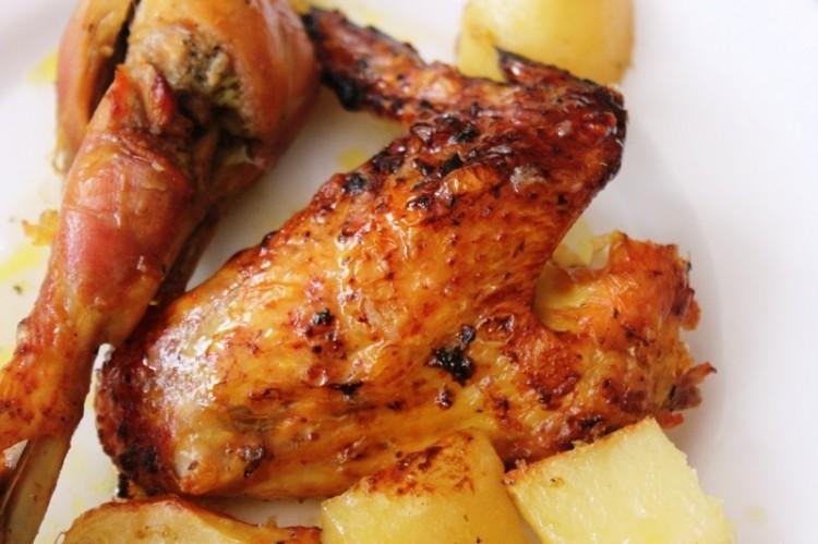 poulet rôti au poivre etgingembre