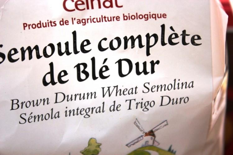 semoule de blé dur (complète)