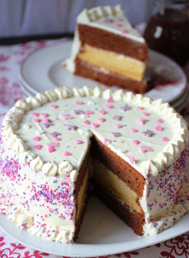 Mon gâteau d\u0027anniversaire Au Chocolat au lait et chocolat blanc , Alice  Pegie Cuisine