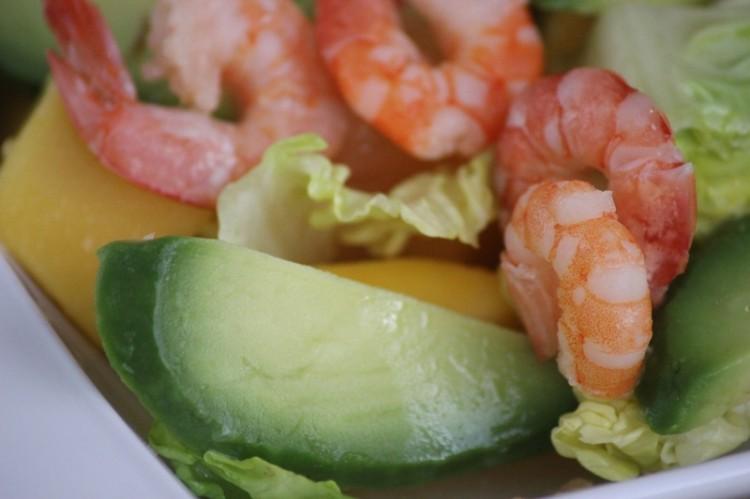 salade de crevettes à la mangue et pamplemousse (12)