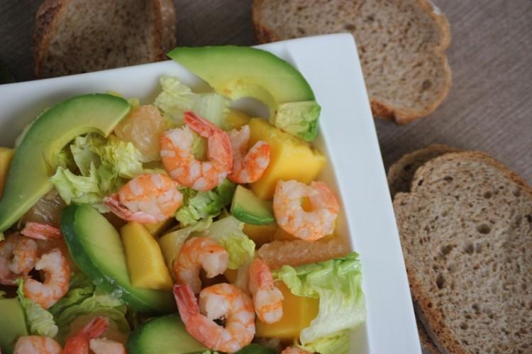 salade de crevettes à la mangue et pamplemousse (13)