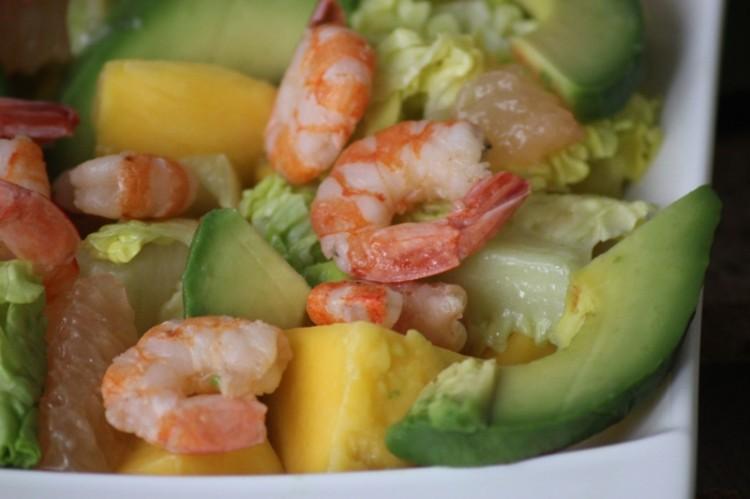 salade de crevettes à la mangue et pamplemousse (8)