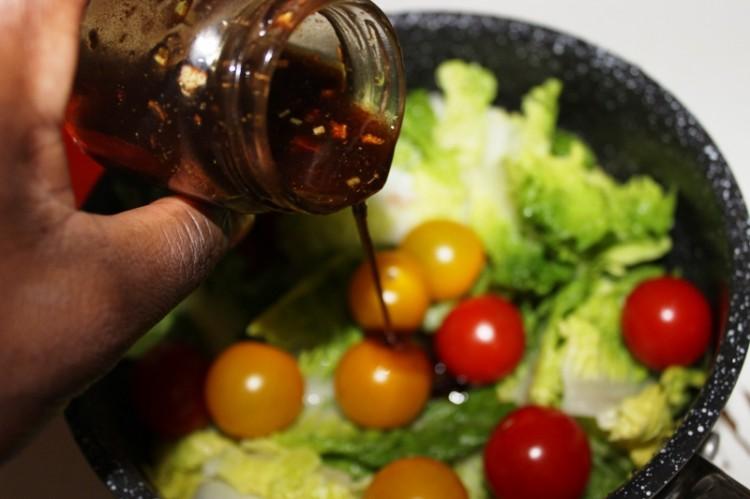 Salade de melon tomate mozzarella et jambon (5)