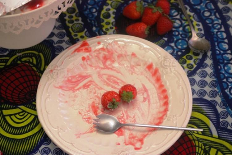 pavlova à la fraise