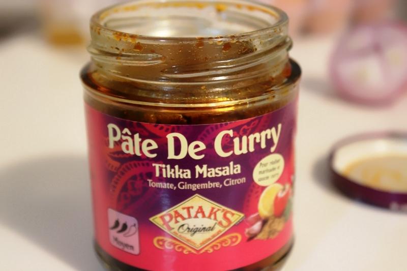 poulet roti au curry et riz au lait de coco