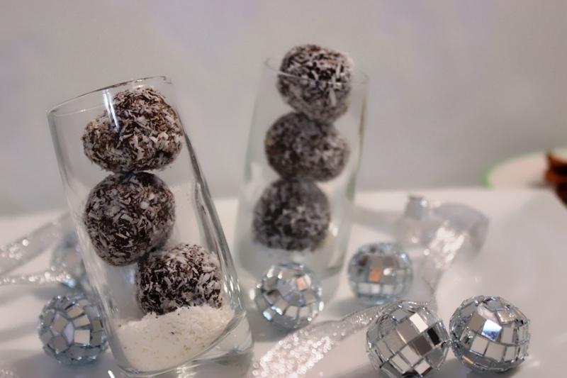truffes au chocolat et crème de coco