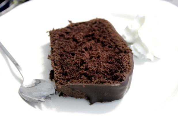 Sponge Cake Avec Des Gauffres