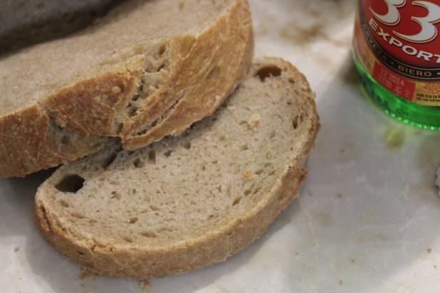 pain semi complet à la bière