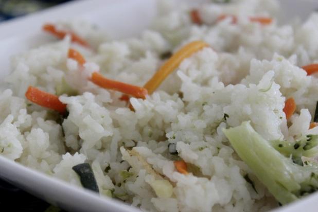 riz sauté légumes coriandre & citron vert