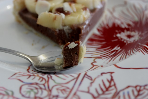 tarte feuilletée chocolat banane