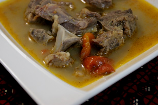 pepper soup d'agneau