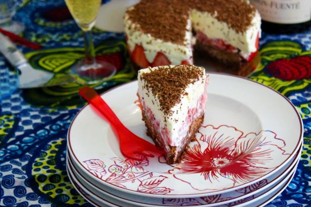 fraisier chocolat