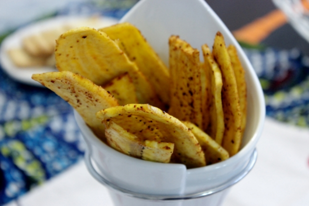 chips de plantain au piment d'espelette