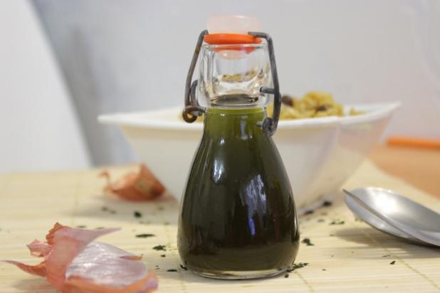 huile à la coriandre
