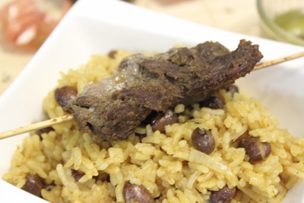 riz pilaf aux haricots rouges