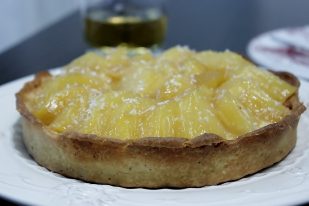 tarte à l'ananas rôti