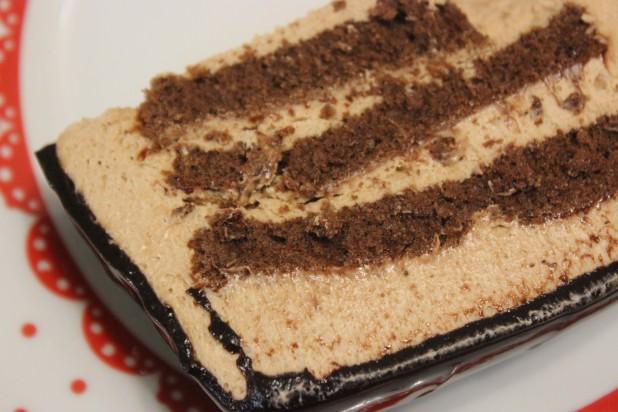 Bûche au chocolat praliné