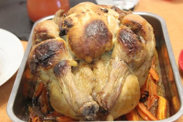 poulet rôti au boursin