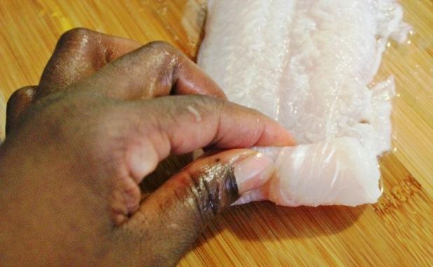 filet de poissonà la sauce d'arachides
