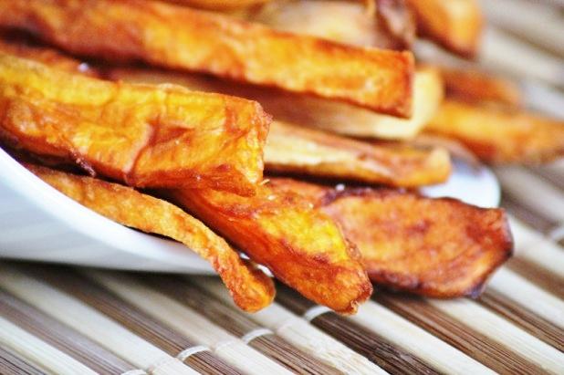 frites de patates douces au four alice pegie cuisine. Black Bedroom Furniture Sets. Home Design Ideas