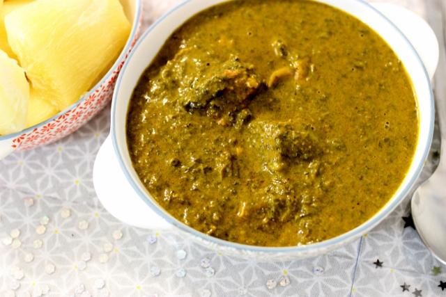 Sauce de feuilles de Manioc