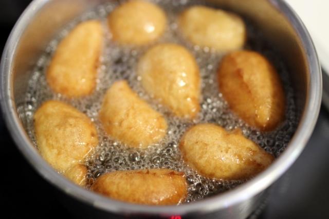 beignets à la pâte de spéculoos