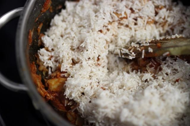 riz sauté à la morue