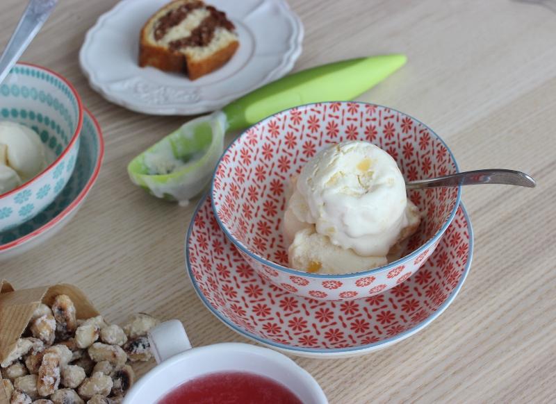 Yaourt glacé au sirop d'érable et à la mangue