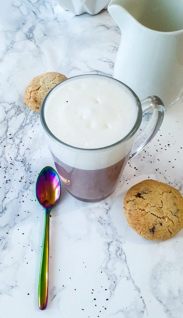 bissap (hibiscus) latte