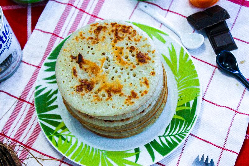 pancake de riz au lait de coco mofo gasy