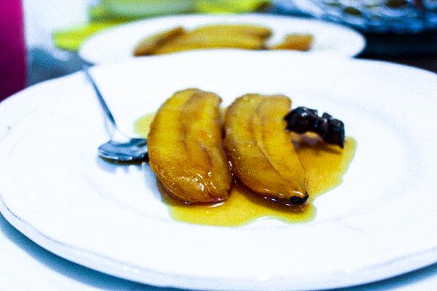banane rôtie aux épices