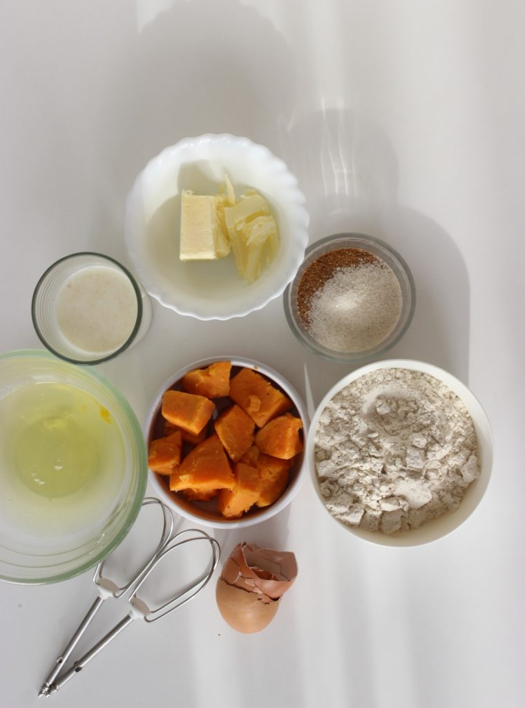 gaufres à la patate douce