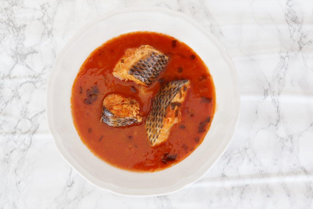 soupe de poisson à la tomate